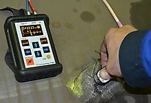УТ907. Измерение толщины стенки трубы 1220х12.