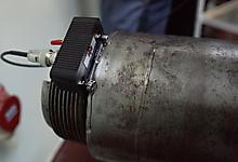 Ультразвуковой преобразователь П131-2,5-0/20-К14. Контроль вагонной оси. Фото 1.