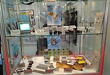 "Выставка в Москве ""NDT Russia"" 2016г. Стенд с образцами продукции."