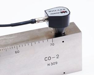 Прозвучивание отверстия 2мм на глубине 8мм в образце СО-2 с помощью преобразователя П111-5,0-К8.