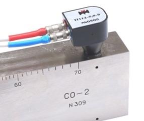 Прозвучивание отверстия диаметром 2мм на глубине 8мм в образце СО-2 с помощью преобразователя П112-5,0-8