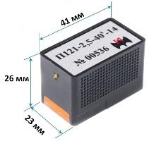 Габаритные размеры наклонных ПЭП с частотй 1,8 и 2,5 МГц производства ООО