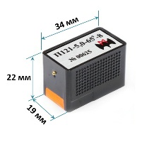 Габаритные размеры наклонных ПЭП с частотй 5 и 8 МГц производства ООО
