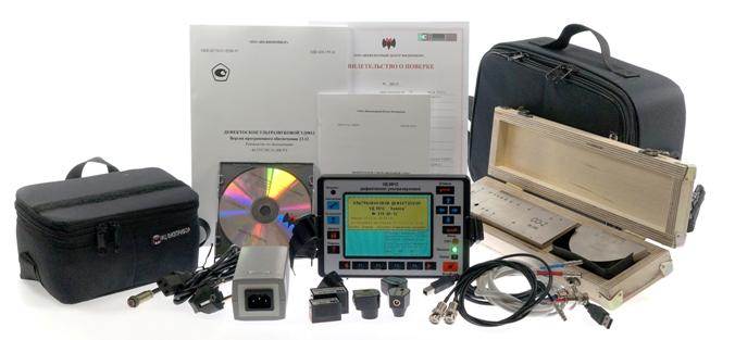 Комплект поставки ультразвукового дефектоскопа УД9812