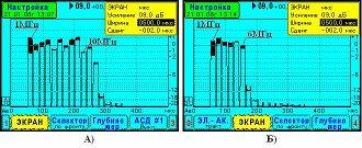Тест-сигнал «F-серия» из 16-ти ВЧ импульсов с начальной частотой 1,0 МГц, приращение частоты на импульс также 1,0 МГц.