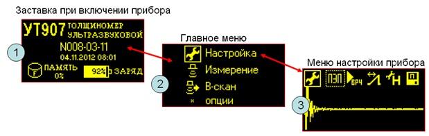 Заставка при включении УТ907